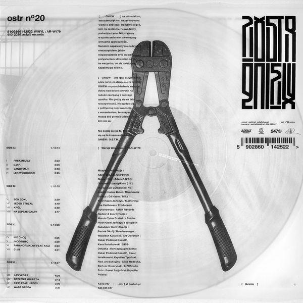 "O.S.T.R. : ""GNIEW"" 2LP (Transparent Vinyl)"